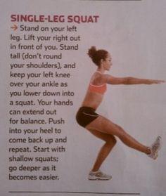 single Leg Squats / pistol squats