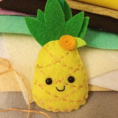This Pineapple key chain is now in my shop!