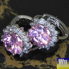 Matching set of a Pink SapphireWGP Ring & Earrings is going up for auction at  8am Fri, May 3 with a starting bid of $12.