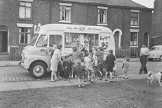 The public are being asked to identify themselves and others caught on film in the Salford and Cheetham Hill areas Antique Photos, Vintage Photos, Shirley Baker, Salford City, Ice Cream Van, Manchester Uk, Industrial Photography, Blackpool, Slums