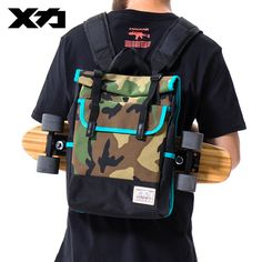 MACKAR Skateboard Backpack Bags Waterproof Oxford Skate Backpacks Casual Street Skaters Skateboard Carry Bag