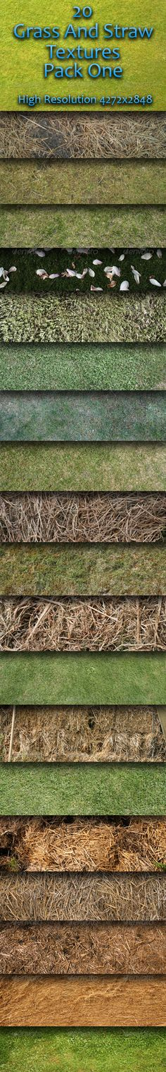 20 Grass And Straw Textures  Pack One — Photoshop PSD #color #agriculture • Available here → https://graphicriver.net/item/20-grass-and-straw-textures-pack-one-/157141?ref=pxcr