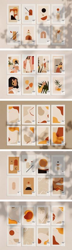 Well designed templates of abstract graphic shapes by William Hansen. #designresources #graphics