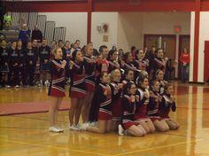 Mechanicville Red Raiders Basketball Cheerleaders 2015