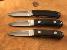 Bob Loveless New York Special. The top knife is a very rare hidden pin. This is the first hidden pin NY Special Loveless ever made, it is a set with a Hideout.#loveless #famousknives #fighter #dagger #bigbear  #bobloveless #johndenton #customknives #tactical #knifecollecting #handmadeknives #droppointhunter #bootknife #semiskinner #stevejohnson #jimmerritt #r.w.loveless #boblovelessbook #knifecollectorsbook #customknives #custom #tactical  #guncollecting #michealwalker #investment #ferrari Collector Knives, Boot Knife, Vintage Bob, Buy Sell Trade, Loveless, Handmade Knives, Tactical Knives, Custom Knives, Ferrari