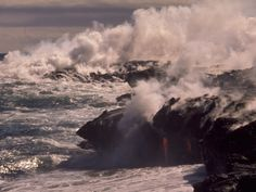 Espectacular imagen del Hawai'i Volcanoes National Park, fruto de 70 millones de años de evolución geológica (National Park Service)