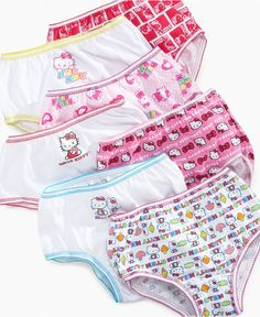 Handcraft Kids Underwear, Little Girls Toddler Hello Kitty Seven-Pack - Kids - Macy's