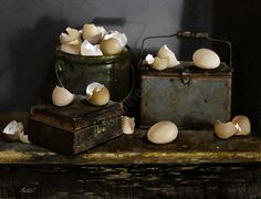 EGG AND SHELLS no.11 by Larry Preston Oil ~ 15 x 19