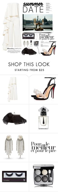 """""""Summer Date"""" by conch-lady ❤ liked on Polyvore featuring Allison Parris, Christian Louboutin, Guerlain, Carolee, BBrowBar, Chanel, polyore, summerdate and rooftopbar"""