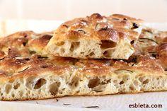 Receta de focaccia muy rica ¡Sin amasar! Focaccia Pizza, How To Make Bread, Bread Making, Special Recipes, Apple Pie, Bakery, Sandwiches, Curry, Veggies