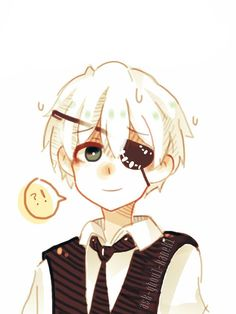 Aww! Kaneki Ken... Adorable considering how dark most of the other Tokyo Ghoul art is. :)