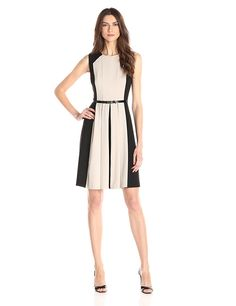 Calvin Klein Women's Belted Dress ** Quickly view this special  product, click the image : Women's dresses