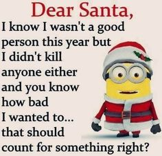 New Funny Christmas Memes Humor Dear Santa 22 Ideas Funny Minion Memes, Minions Quotes, Funny Jokes, Hilarious, Minion Humor, Minion Stuff, Cartoon Jokes, Memes Humor, Whatsapp Fun