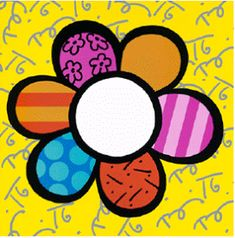 "Lithograph ""Flower Power I"" By Romero Britto, Size Approx. Romero Britto October is a Brazilian . Pintura Graffiti, Graffiti Painting, Diy Painting, Graffiti Art, Famous Pop Art, Famous Artists, Art Floral, Flower Power, Paintings Famous"