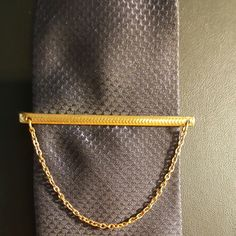 Vintage tie bar chain bar keep neat and secure  tie down.