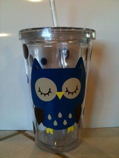 owl tumbler cup <33333