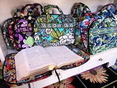 "Vera Bradley ""Good Book"" cover. Amazing gift for a Bible study buddy."