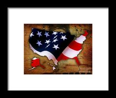 United States Of America Map Art Framed Prints by Marvin Blaine.