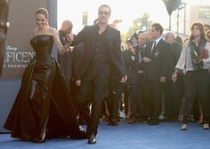 Pin for Later: Angelina Jolie and Brad Pitt Make Maleficent a Family Affair