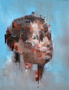 Donna 2 Oil on linen board Portrait Art, Portrait Paintings, Social Art, Figurative Art, Amazing Art, Street Art, Canvas Art, Fine Art, Abstract