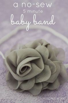 The 5 Minute No-Sew Baby Band by Migonis Home