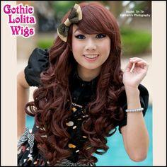 Long Curly Lolita - Dark Brown - Gothic Lolita Wigs Store