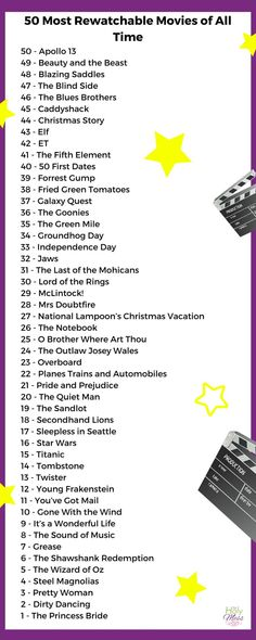 50 Most Rewatchable Movies of All Time& List& your favorite on the list? 50 Most Rewatchable Movies of All Time& List& your favorite on the list? The post 50 Most Rewatchable Movies of All Time Movie To Watch List, Movie List, Movie Tv, List Of Movies, Top Love Movies, Nice Movies To Watch, Great Movies, Netflix Movies, Disney Movies