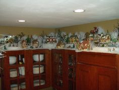 How To Decorate With Department  Above Kitchen Cabinets