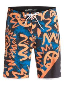 "quiksilver, AG47 New Wave 20"" Boardshorts, Blazing Orange-6 (nhp6)"