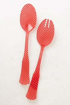 polka dot salad servers!