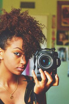 She looks lovely! and as a tangent, this is how I wear my hair, cute and easy:) All you need to do is go bobby pin crazy Natural Hair Journey, Natural Hair Care, Natural Hair Styles, Natural Curls, Big Hair, Your Hair, Vida Natural, Natural Hair Inspiration, African Hairstyles