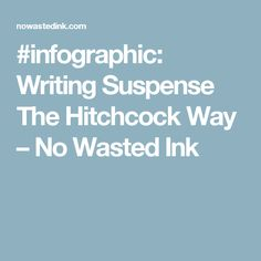 #infographic: Writing Suspense The Hitchcock Way – No Wasted Ink