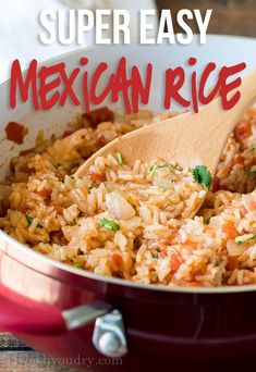 Easy Mexican Rice Mexican Side Dishes, Mexican Rice Recipes, Easy Mexican Rice, Mexican Desserts, Spanish Recipes, Gourmet Desserts, Plated Desserts, Rice Dishes, Pasta Dishes