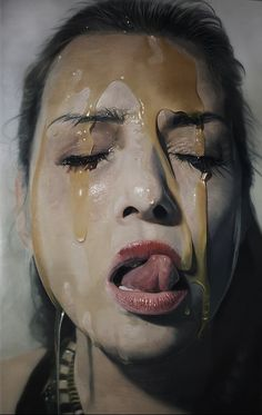 Hyperrealistic Portraits Dripping With Honey And Chocolate - DesignTAXI.com