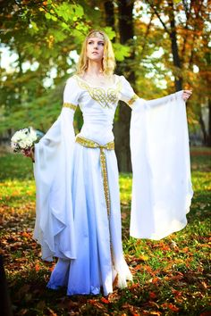 The Elven wedding dress by Ainaven on deviantART