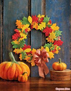С первым днем осени! Осенние листья из фетра! МК - Фетр и Флис - настоящий…