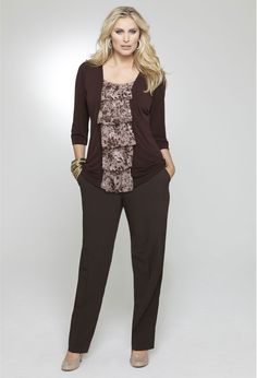 Business Casual: A great business casual look! Make your outfit pop with a printed top!