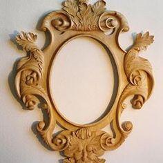『AHMAD ALHAJ IBRAHIM』 (@ahmad_alhaj_ibrahim) • Instagram photos and videos Wood Carving Designs, Wood Carving Patterns, Wood Patterns, Mirrored Picture Frames, Victorian Frame, Mirror Painting, Old Frames, Wood Mirror, Wood Art
