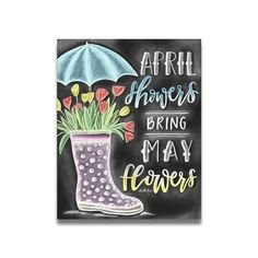 April Showers Bring May Flowers Chalk Print Chalk Art Chalkboard Paint Kitchen, Chalkboard Art Quotes, Chalkboard Calendar, Chalkboard Print, Chalkboard Drawings, Chalkboard Lettering, Chalkboard Designs, Chalk Drawings, Chalkboard Ideas