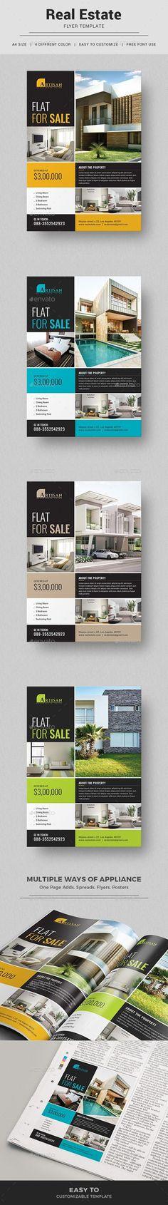 Real Estate Flyer Template PSD. Download here: https://graphicriver.net/item/real-estate-flyer/17525381?ref=ksioks #realestatemarketingtools