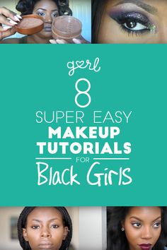 15 Super Easy Makeup Tutorials For Black Girls - Easy Make Up Simple Makeup, Natural Makeup, Natural Skin Care, Natural Face, Natural Beauty, Younique, Afro, African American Makeup, Easy Makeup Tutorial