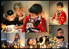 Photo Shoot with Christmas Lights
