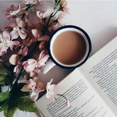 Find images and videos about flowers, book and coffee on We Heart It - the app to get lost in what you love.