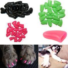nice Stylish Fashion Soft Nail Caps for Dog Cat Claws Bag of 20pcs