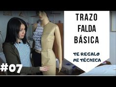 #07 😁Trazo de Falda Básica 😏👉Con regalo incluido🎁📏📐 - YouTube Diy Dress, Sewing For Beginners, Dress Patterns, Dresses For Work, Youtube, Stitching, Deep, Fashion, Sew Simple