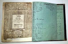 Machzor for Rosh Hashanah and Yom Kippur printed in Sulzbach in 1795