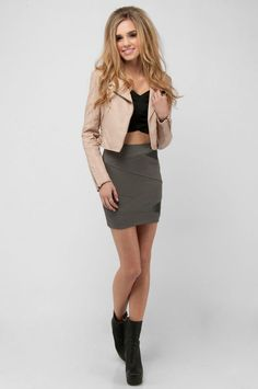 Rocker chic  - too skinny but like the look