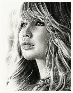 Fan Art of Jennifer Lawrence pencil drawing for fans of Jennifer Lawrence. Pencil drawing of Jennifer Lawrence, known as Katniss Everdeen in The Hunger Games