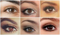 maquillage de jour  yeux marron