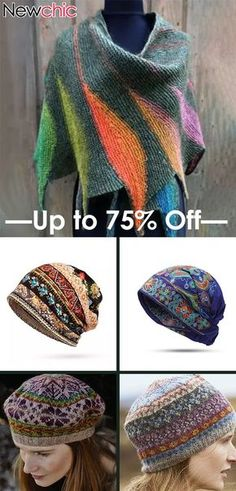 #Newchic5thAnniversary Women's Casual Multicolor Stripes Round Neck Scarves & Hats Crochet Poncho Patterns, Crochet Scarves, Crochet Shawl, Knit Crochet, Fall Winter Outfits, Winter Fashion, Dresses For Less, Crochet Round, Scarf Hat